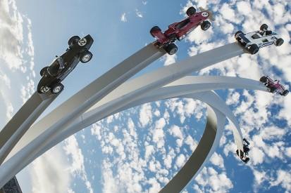 Goodwood Festival of Speed sculpture dedicated to Bernie Ecclestone