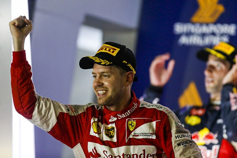 Sebastian Vettel wins Singapore GP as Lewis Hamilton retires