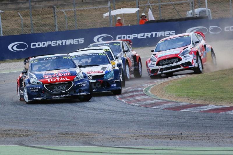 Barcelona World Rallycross: Timmy Hansen leads again for Peugeot