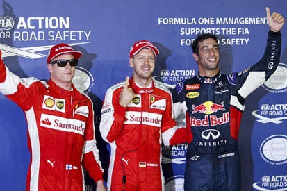 Sebastian Vettel takes pole position for the Singapore Grand Prix