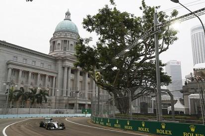 Singapore GP: Nico Rosberg leads Lewis Hamilton in first practice