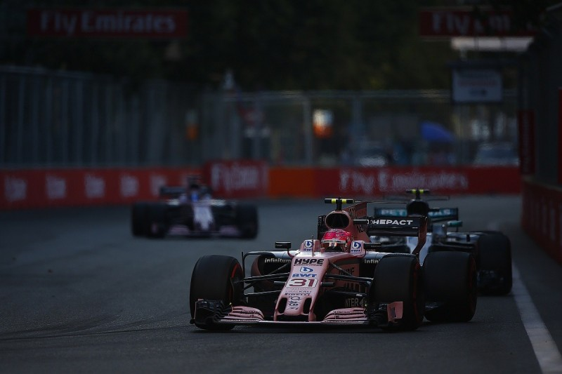 Force India F1 team to speak to drivers after Azerbaijan collision