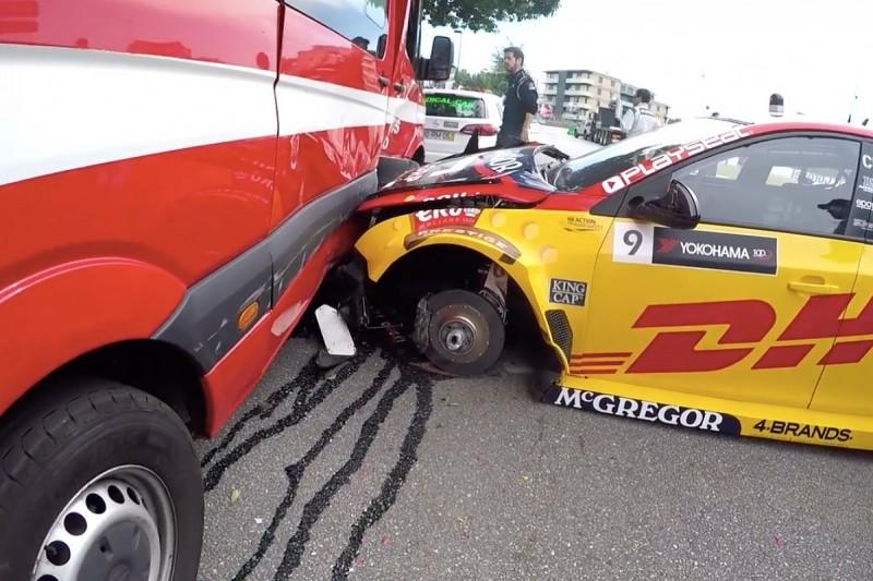Coronel's crash with fire van in Vila Real WTCC practice was 25G