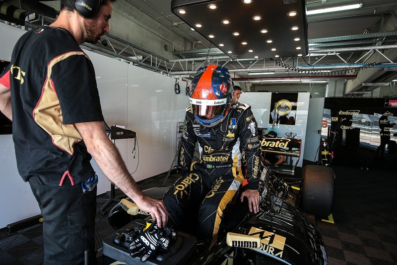 Fittipaldi leads Lotus 1-2 in qualifying for second race at Aragon