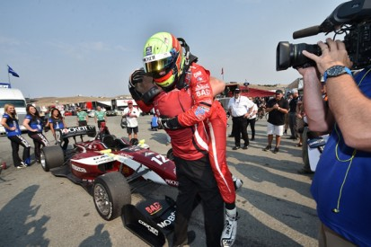 Laguna Seca Indy Lights: Pigot beats Harvey and Jones to 2015 title