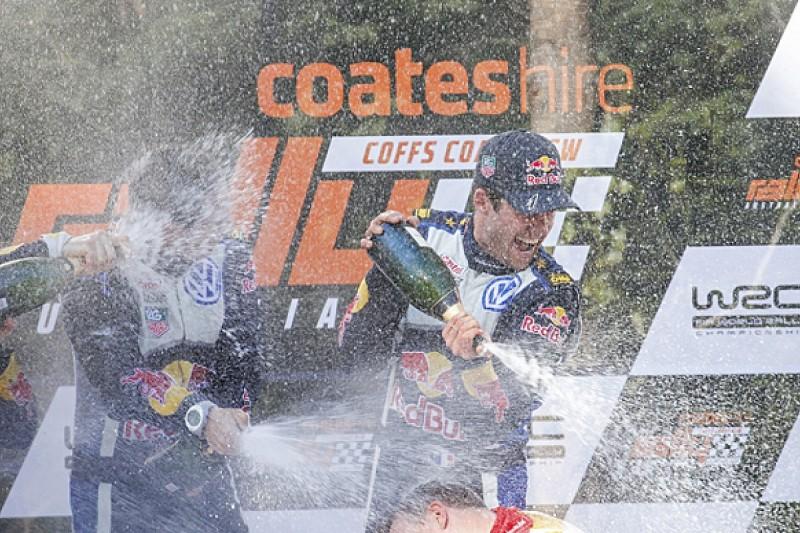 WRC Australia: VW's Sebastien Ogier wins rally, 2015 championship