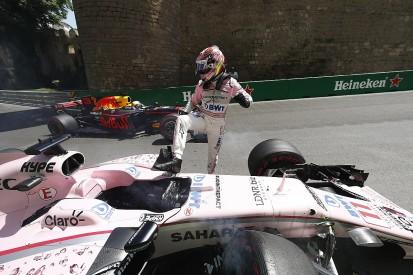 Azerbaijan GP: Perez calls for Turn 8 kerb change after crash