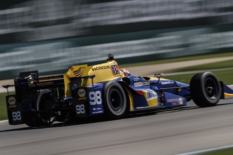 Alexander Rossi tops red-flagged first Road America IndyCar session