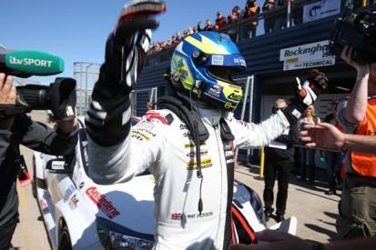 Rockingham BTCC: Mat Jackson wins for Motorbase Ford with puncture