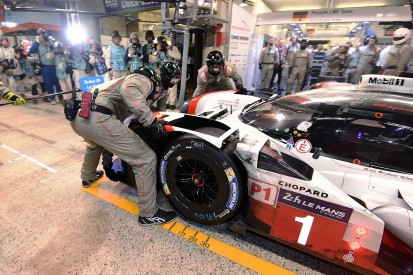 Tandy leads Le Mans for Porsche by nine laps at the halfway mark