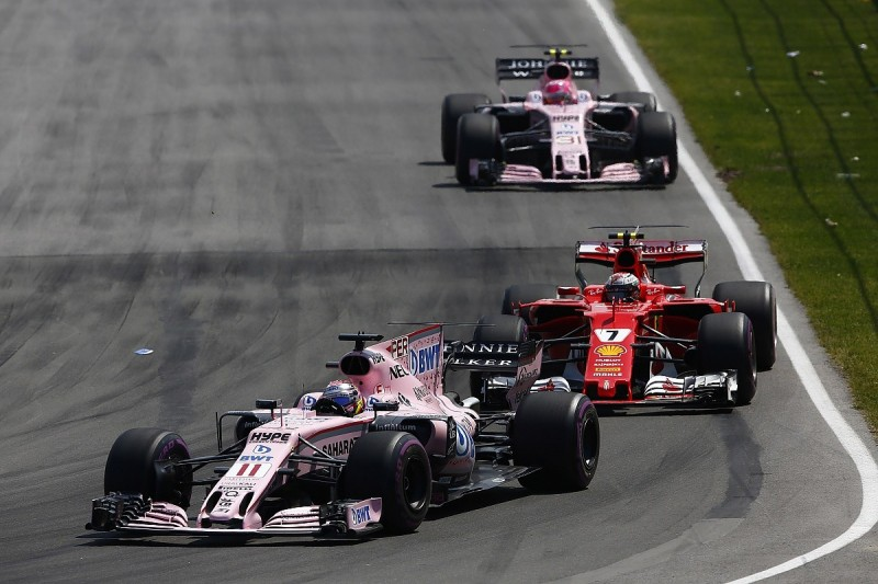 Force India's Sergio Perez defends his battle with Esteban Ocon
