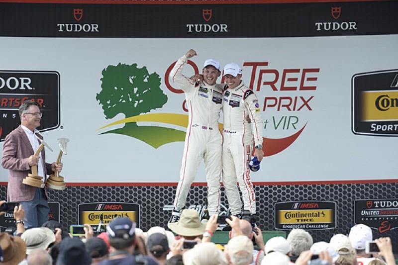 Virginia United SportsCar: Nick Tandy/Patrick Pilet win for Porsche