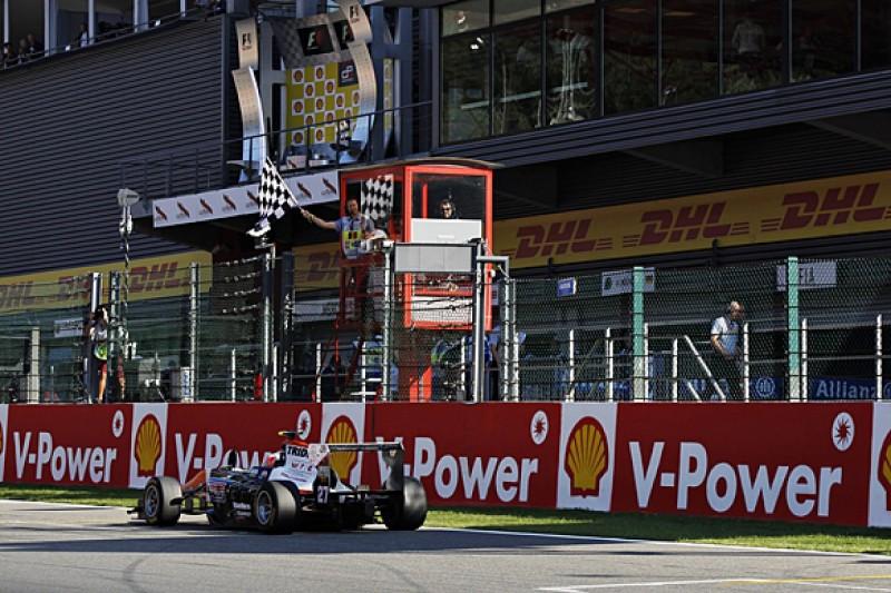 Spa GP3: Luca Ghiotto beats Esteban Ocon to race two win