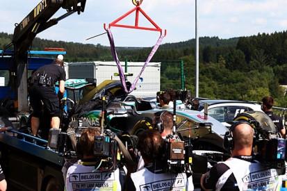 Belgian GP: 'External cut' caused Nico Rosberg tyre blow - Pirelli