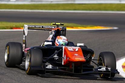 Spa GP3: Luca Ghiotto leads Antonio Fuoco in practice