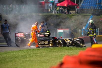 Belgian GP: Pastor Maldonado says F1 practice crash 'very unlucky'