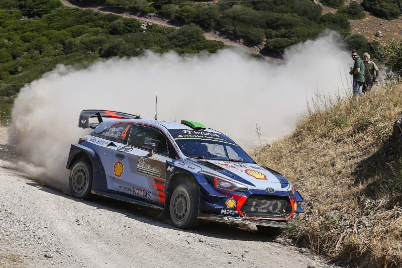 WRC Rally Italy: Hayden Paddon leads tight pack for Hyundai