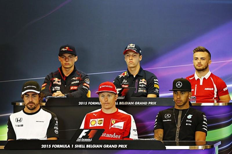 Full transcript of 2015 Belgian GP Thursday press conference