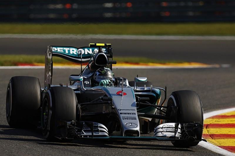 Belgian GP: Nico Rosberg leads Lewis Hamilton in first Spa practice