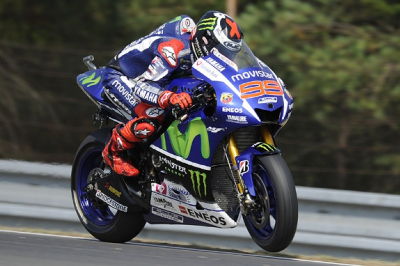 MotoGP Brno: Lorenzo leads Rossi in Yamaha third practice 1-2