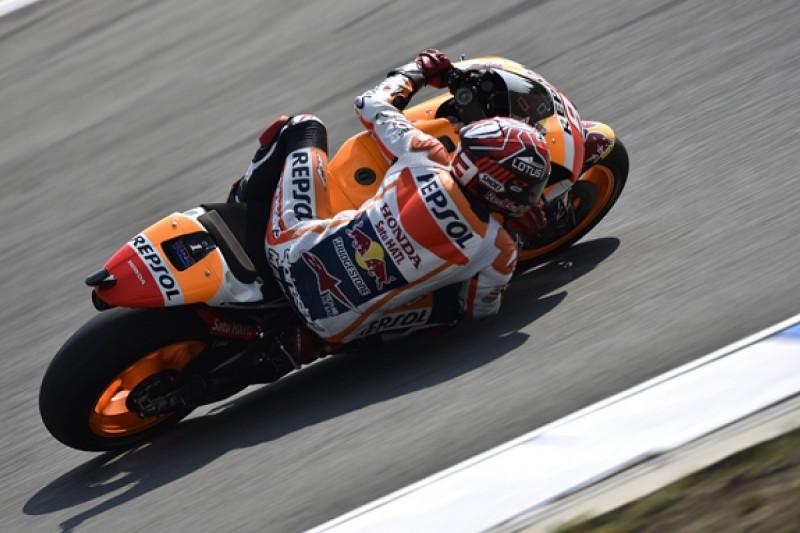 MotoGP Brno: Marc Marquez tops crash-filled second practice