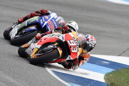 MotoGP Indianapolis: Marc Marquez wins with late Jorge Lorenzo pass