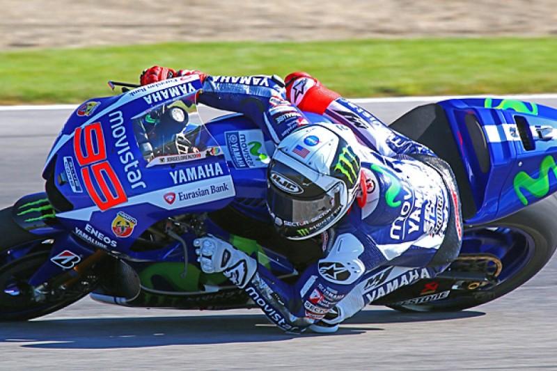 Indianapolis MotoGP: Jorge Lorenzo leads Marc Marquez in practice