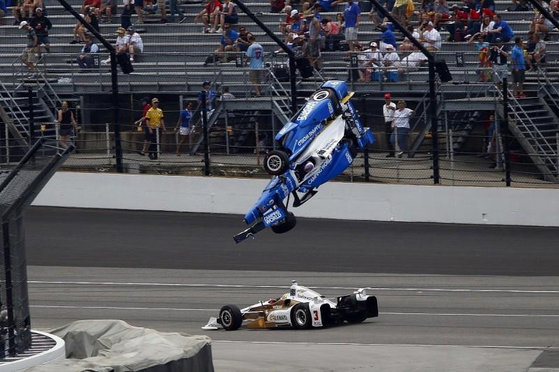 Scott Dixon escapes horrific Indianapolis 500 crash with Jay Howard