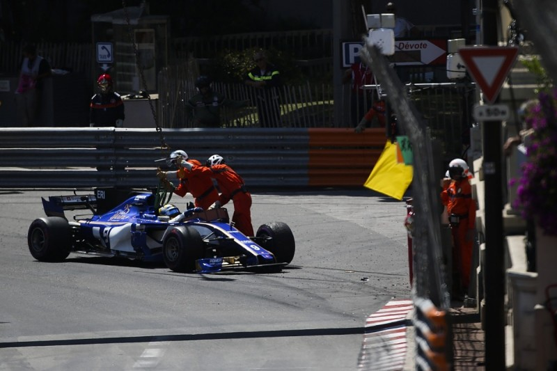 Sauber F1 driver Ericsson blames brakes and tyres for Monaco crash