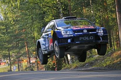 Rally Finland: Sebastien Ogier holds narrow lead on first morning