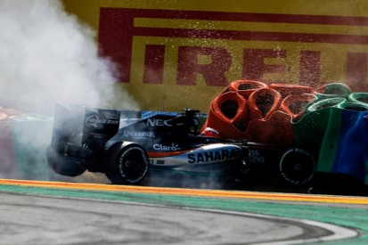 Kerbs the likely cause of Nico Hulkenberg's Hungarian GP crash
