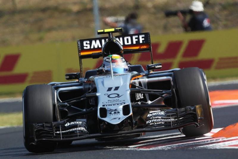 Kerb loading led to Sergio Perez's crash in Hungarian GP practice