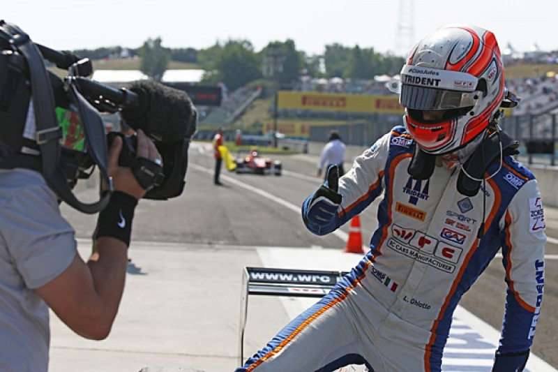 GP3 Hungary: Luca Ghiotto takes pole position in closing moments