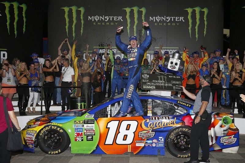 NASCAR All-Star: Kyle Busch beats rivals on final restart to win