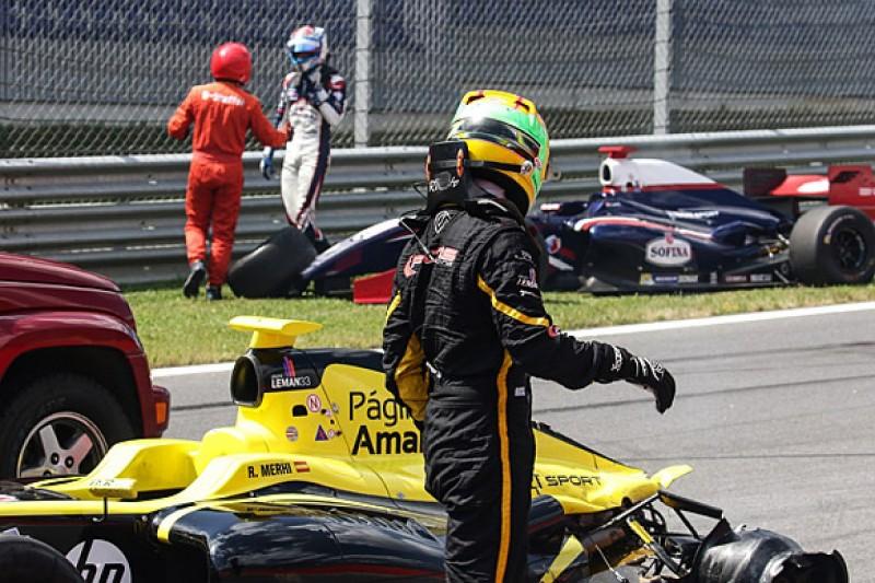 Red Bull Ring FR3.5: F1 racer Roberto Merhi excluded over big crash