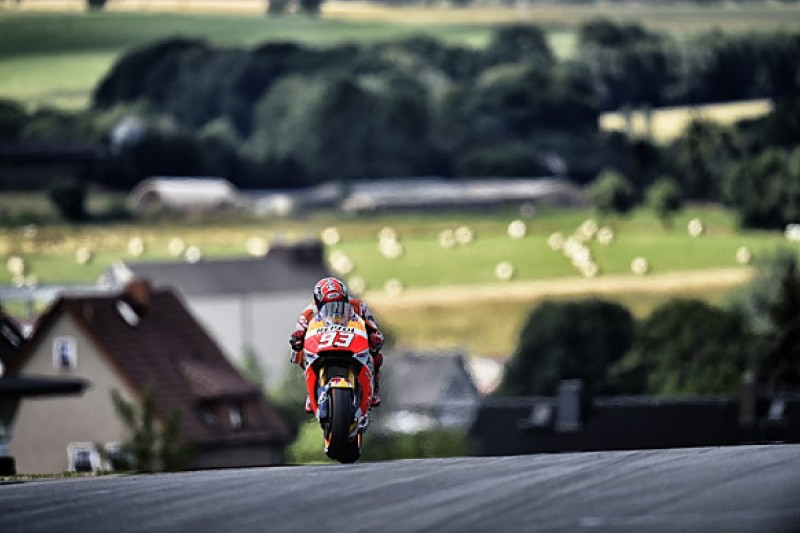 Sachsenring MotoGP: Marc Marquez leads practice from Bradley Smith
