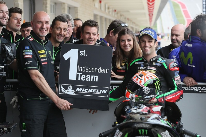 Johann Zarco will remain with Tech3 Yamaha MotoGP team for 2018