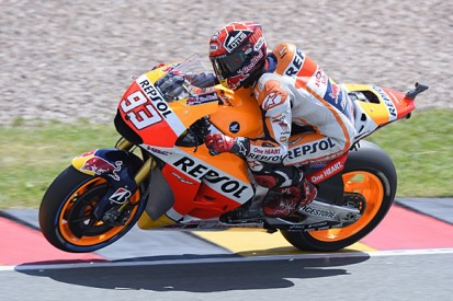 Sachsenring MotoGP: Marc Marquez heads Valentino Rossi in practice