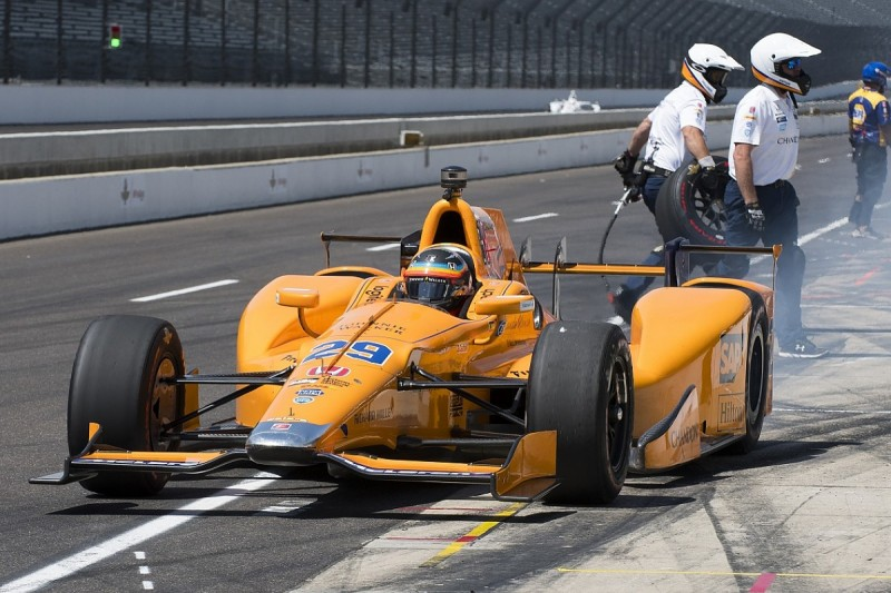 Fernando Alonso not yet comfortable in Indy 500 practice