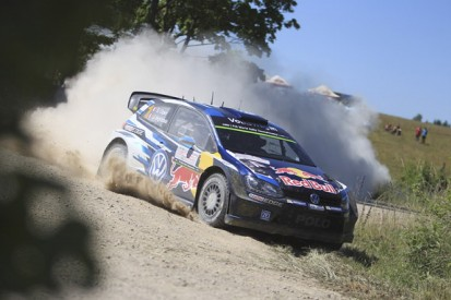 Rally Poland: Ogier leads after brake problems halt Tanak's charge