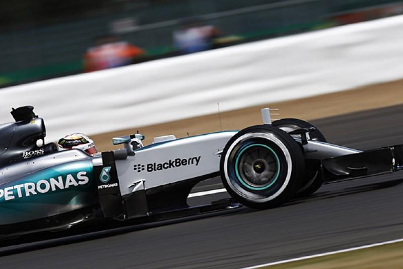British GP: Lewis Hamilton leads practice, trouble for Nico Rosberg