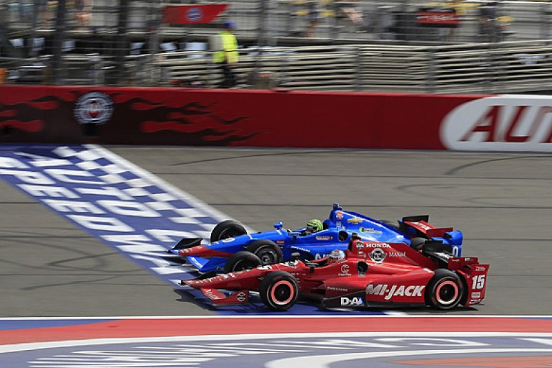 Fontana IndyCar: Graham Rahal ends win drought in tense race