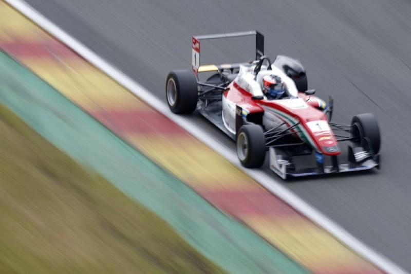 Spa European F3: Felix Rosenqvist dodges rain to take race one pole