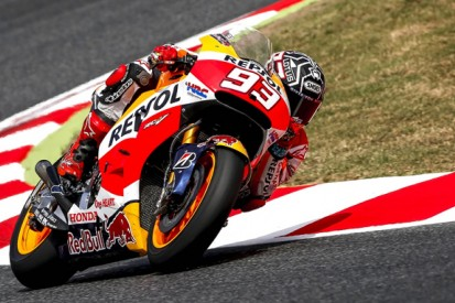 Marc Marquez tests with 2014 Honda MotoGP chassis at Barcelona