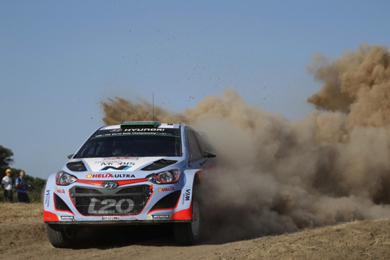WRC Italy: Paddon leads for Hyundai, Ogier third despite sweeping