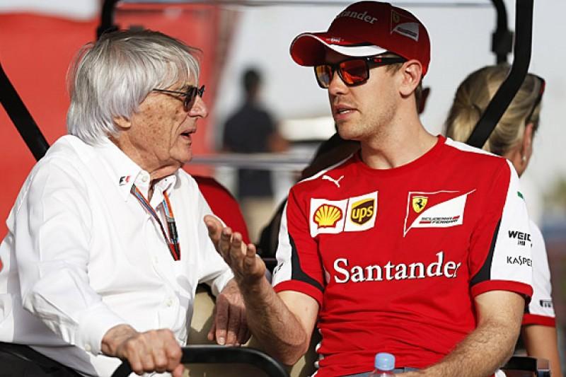 Sebastian Vettel shrugs off criticism from F1 boss Ecclestone