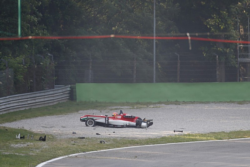 Monza European F3: Ferrari protege Stroll penalised for huge crash