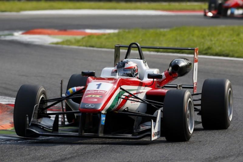 Monza European F3: Felix Rosenqvist completes pole hat-trick