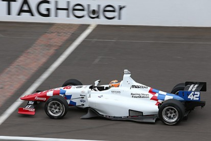 Jack Harvey wins Indy Lights race at Indianapolis