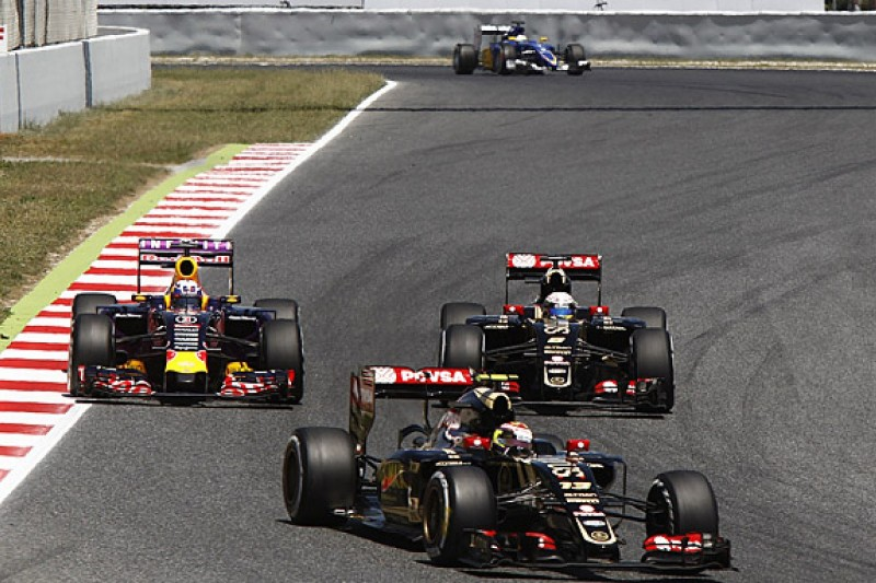 Lotus F1 team won't blame drivers for clash in Spanish Grand Prix